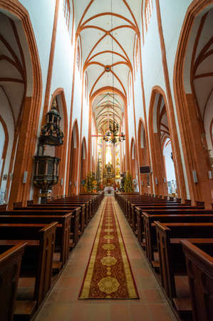 elisabeth: WROCLAW, POLAND - DECEMBER 29: St. Elisabeth Church interior on December 29, 2012 in Wroclaw, Poland. The St. Elisabeth Church is one of the oldest and biggest temples in Wrocław.
