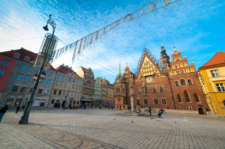 hosted: WROCLAW, POLAND - DECEMBER 29: Old city hall on December 29, 2012 in Wroclaw, Poland. The World Games 2017 will be hosted in Wrocław, It was chosen by the International World Games Association.
