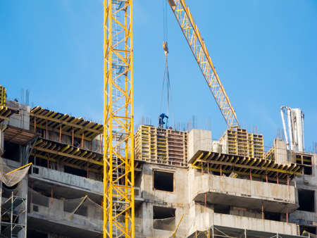 Multi level building construction site photo