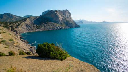 crimea: Black Sea coastline in Crimea, Ukraine