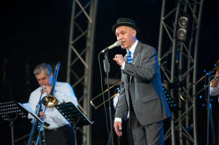 f 15: MOSCOW - JUNE 15: Alexander F Sklyar performs on open-air X International Festival Usadba Jazz on June 15, 2013 in Archangelskoye Mansion in Moscow