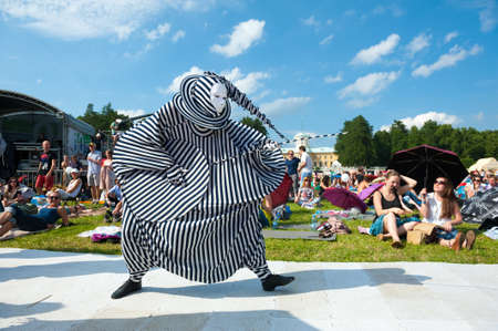 """MOSCOW - JUNE 16: People attend open-air concert on X International Jazz Festival """"Usadba Jazz"""" in Archangelskoye Museum-Mansion on June 16, 2013 in Moscow Editorial"""