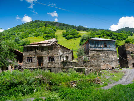svaneti: Paisaje del pa�s en Svaneti, Georgia Foto de archivo