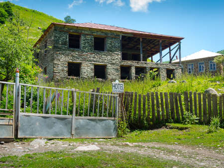 svaneti: Country landscape in Svaneti, Georgia Stock Photo