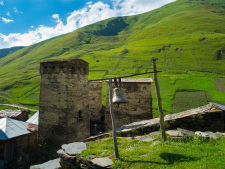 ushguli: Towers in Ushguli, Svaneti, Georgia.