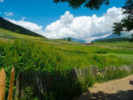 swanetia: Country landscape in Svaneti, Georgia Stock Photo