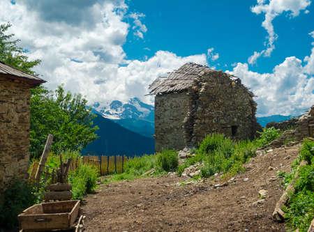 swanetia: Abandoned houses in Svaneti, Georgia