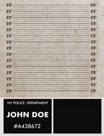 suspect: Police mugshot background Stock Photo