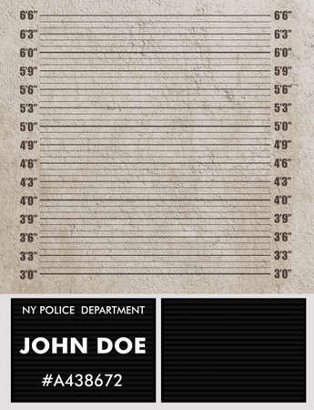 Police mugshot background Stockfoto