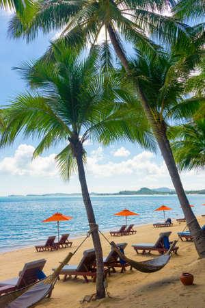 koh: Panorama tropical resort en Koh Samui, Tailandia Foto de archivo