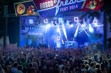 bosco: MOSCOW - MAY 24: Pusha T group performs at Bosco Fresh Festival in Muzeon Park on May 24, 2014 in Moscow. The mission of this festival is to find new talent and releasing them on the big stage.