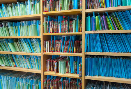 patient data: Paper files in the medical clinic