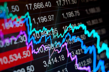 indices: Abstract background stock indices and graphs