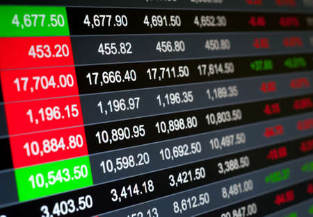 Abstract background stock market indices Stock Photo
