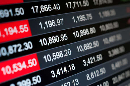 Abstract background stock market indices Foto de archivo