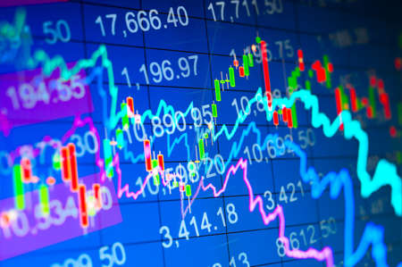 nasdaq: Abstract background stock indices and graphs