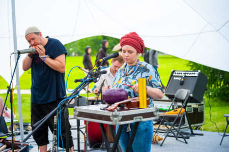 improvisation: MOSCOW - JUNE 20: Shoo group performs at XII International Jazz Festival Usadba Jazz in Tsaritsyno Park on June 20, 2015 in Moscow