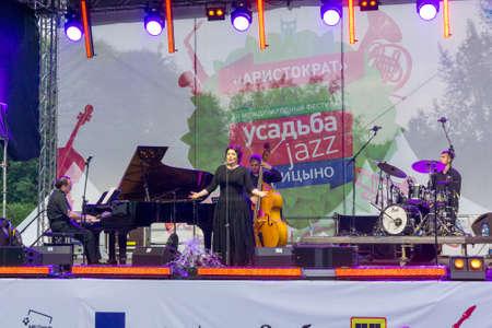 improvisation: MOSCOW - JUNE 20: Hibla Gerzmava performs at XII International Jazz Festival Usadba Jazz in Tsaritsyno Park on June 20, 2015 in Moscow