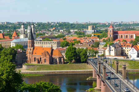 Kaunas old town day time landscape, Lithuania Stock Photo - 42689922