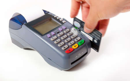 pos: Payment using plastic card in POS terminal