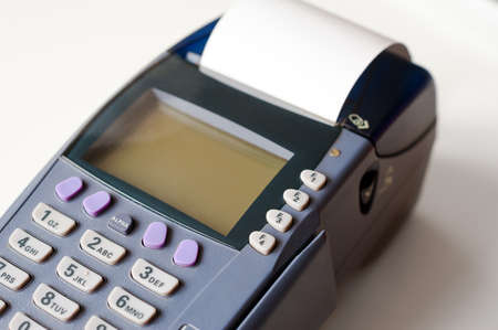 pos: POS terminal prints receipt