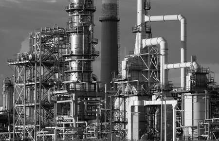 Refining plant industrial background Stock Photo