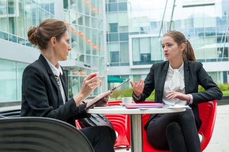 若いビジネス女性面接 写真素材 - 47345944