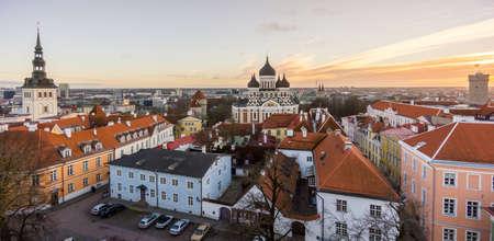 tallin: Tallin old city aerial view, Estonia