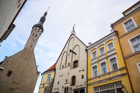 december 25: TALLINN, ESTONIA - DECEMBER 25: Town city hall at day time on December 25, 2015 in Tallinn, Estonia