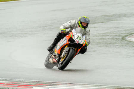 moto gp: MOSCOW - JUNE 5: Unidentified rider participates in the Race Cup Moscow Region Governor on June 5, 2016 in Moscow Raceway Editorial