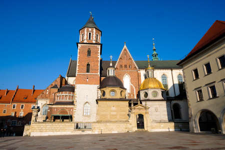 Famous landmark Wawel castle, Krakow Poland Stock Photo