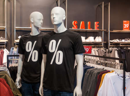 Mannequins in the store. Sale concept
