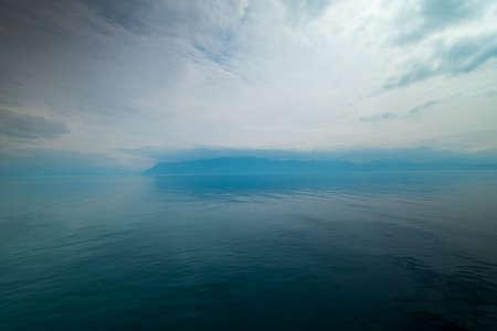 Geneva lake landscape at the day time