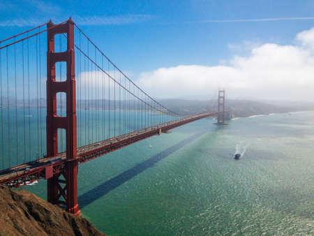 Bridge Golden Gate at San Francisco day time landscape