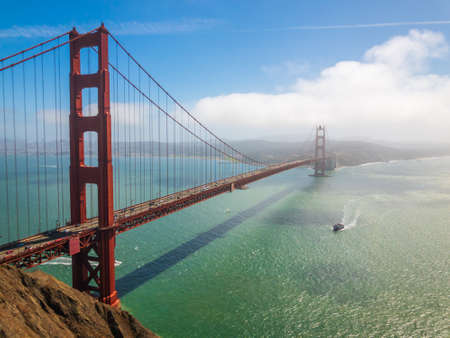 Bridge Golden Gate at San Francisco day time landscape
