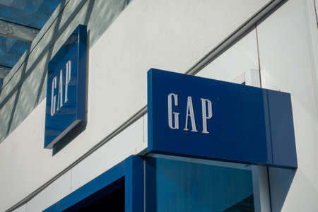 Chicago, USA - September 10, 2018: GAP sign on the brand store
