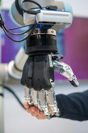 Robotic hand macro close up