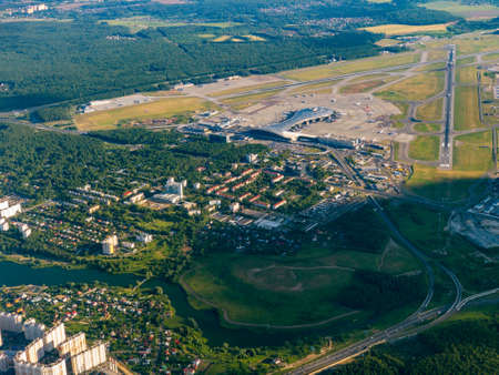 Aerial view of Vnukovo international airport, Russia Stock fotó