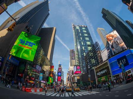 New York, USA - 6. September 2018: Berühmte Attraktion Ort Time Square Tageszeit Stadtbild?