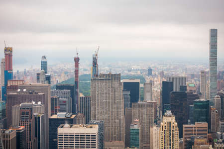 Aerial view of Manhattan skyscrapers at cloudy day time Reklamní fotografie