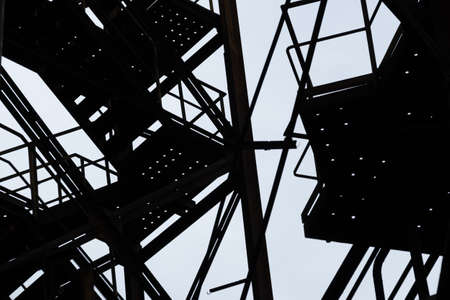 Black and white art abstract industrial backround Фото со стока
