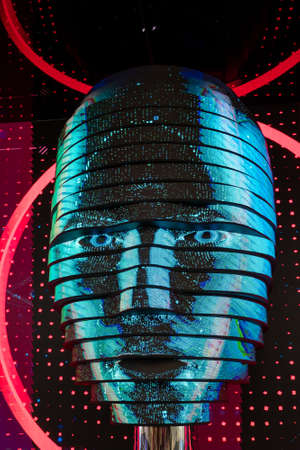 Vrtual digital woman face artificial intelligence concept Reklamní fotografie