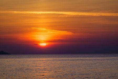 Scenic sunset over calm sea