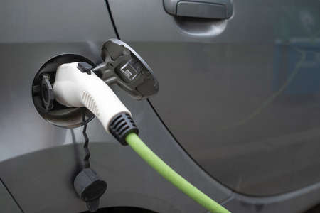 Electric car on charging station