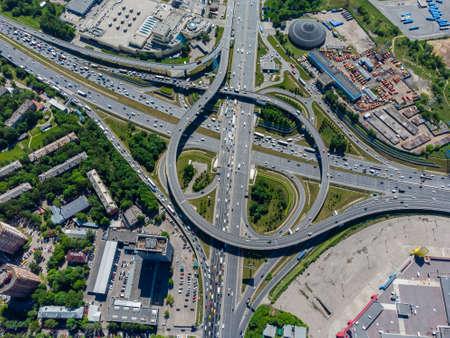 Multilevel junction in modern city