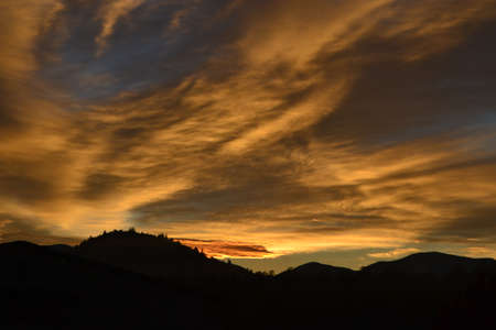 Sunset with dramatic clouds Banco de Imagens
