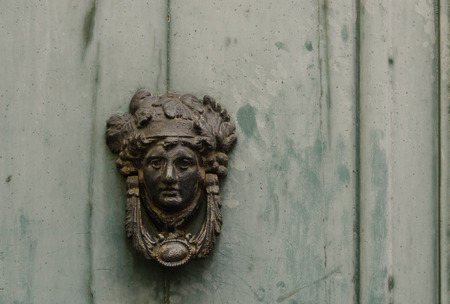 old knocker on door photo