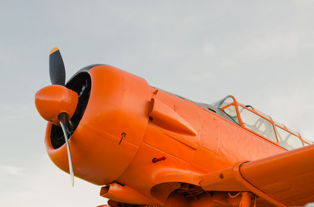 Adventure in the sky, Old airplane, orange, North American T-6G Texan photo