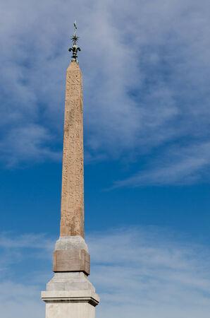 monolithic: roman obelisk, monolithic marble, Rome, Italy