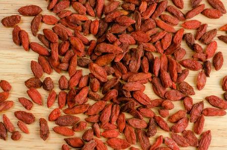 goji berry: Goji berry dried, closeup background